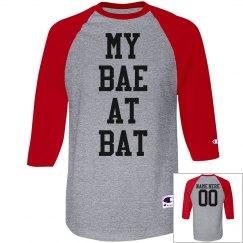 My Bae At Bat Clever Baseball Girlfriend Shirt