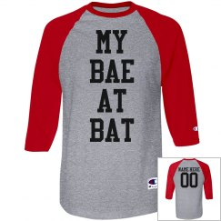 My Bae At Bat Clever Baseball Girlfriend Shirt