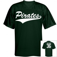 Pirates custom name and number sports jersey