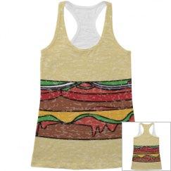 All Over Print hamburger Tank Top