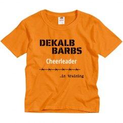 Cheerleader in training