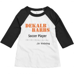 Toddler Soccer Player in training