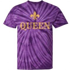 Mardi Gras Tie Dye Queen