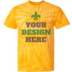 Custom Mardi Gras Tie Dye