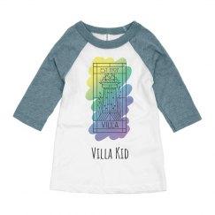 Villa Kid Painted Logo Baseball Shirt