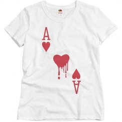 Painting the Roses Red Ace Woman's Shirt