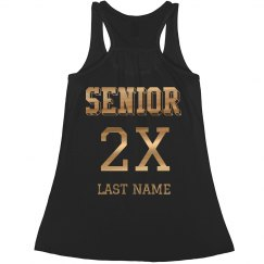 Metallic Custom Flowy Senior Tank