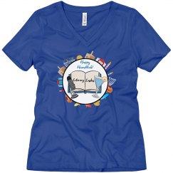 Literary Lushes Hanukkah Edition VNeck Tshirt