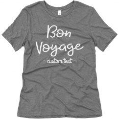 Bon Voyage Custom Travel Vacation Tee