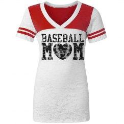 Fitted Baseball Mom Jerseys