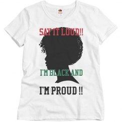 Black and proud tshirt