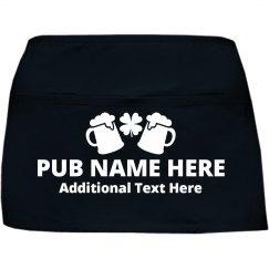 Custom Irish Pub Server Aprons