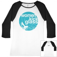 Women Kick Glass Logo Baseball Tee