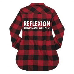 Ladies Long Sleeve Flannel
