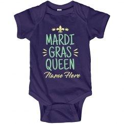 Mardi Gras Queen Baby Bodysuit