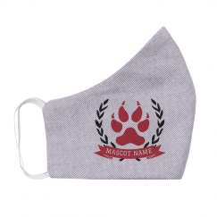 Add Your Mascot Paw Print Face Mask