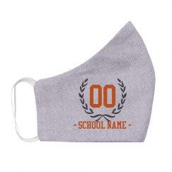 Player Number Custom School Mask
