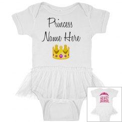 Princess/ Mom's little Heart Breaker Onesie