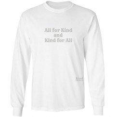 All for Kind unisex/mens long sleeve tee