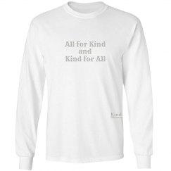 All for Kind unisex/mens long sleeve tee