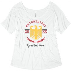 Custom Text And Date Oktoberfest Flowy Top