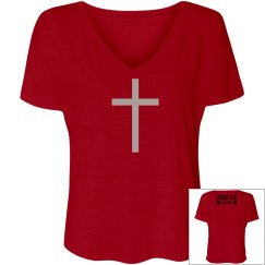 Cross V neck