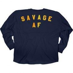 Funny Savage AF Glitter Design