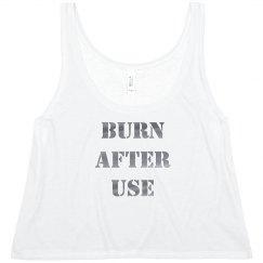 Metallic Harley Quinn Burn Tank