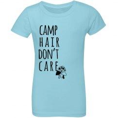 Camp Hair Don't Care Custom Youth Girls Tee