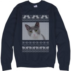 Knit Pattern Cat Themed Ugly Sweaters