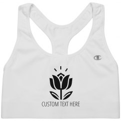 Lotus Flower Meditation Custom Sports Bra