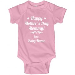 Custom Text Mothers Day Onesie