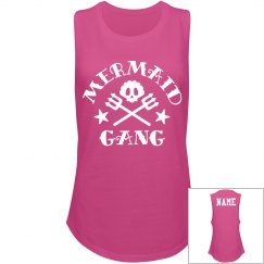 Mermaid Gang Custom Name Back