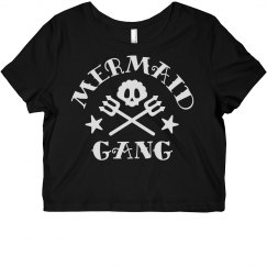 Mermaid Gang Skull Crop Top