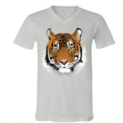 Mens V-neck tee with Tiger