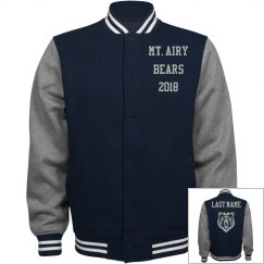 Unisex Fleece Varsity Jacket