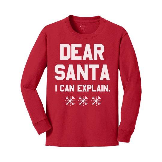 Dear Santa Funny Youth Tee