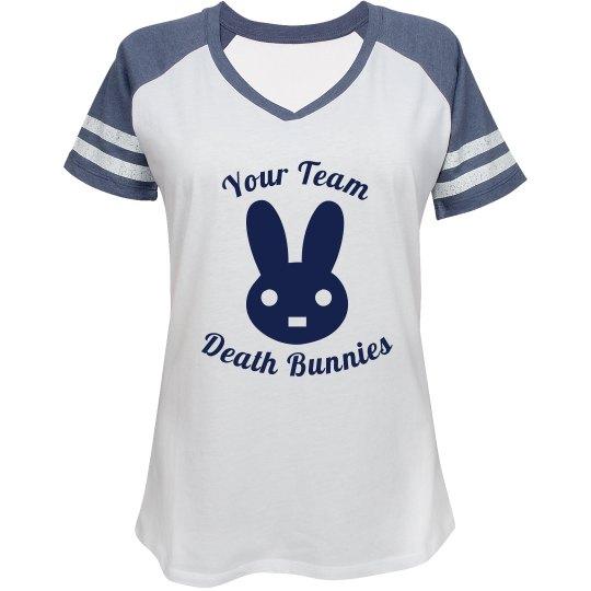 """Death Bunnies"" Ladies' Sports Tee"
