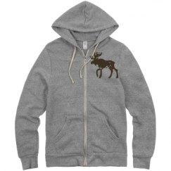 Unisex Eco-Fleece Rocky Full Zip Hoodie
