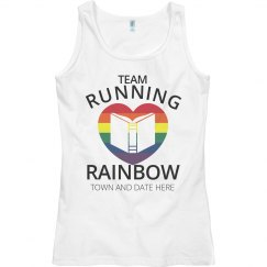 Idea: Team Running Rainbow Color Run White Tank Top