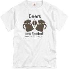 Beers and Football Unisex Tee