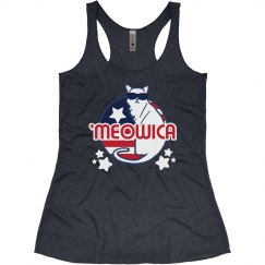 'Meowica Fourth of July Tank
