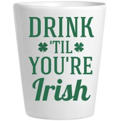 Irish Shot Glass St Patricks Day