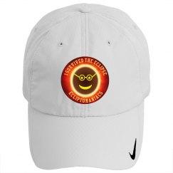 Solar Eclipse Ecliptomaniac White Golf Hat