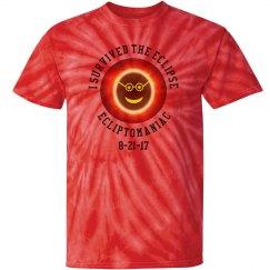 Solar Eclipse Orange Tie Die Shirt