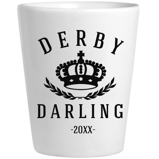 Derby Darling Crown Ceramic Shot Glass