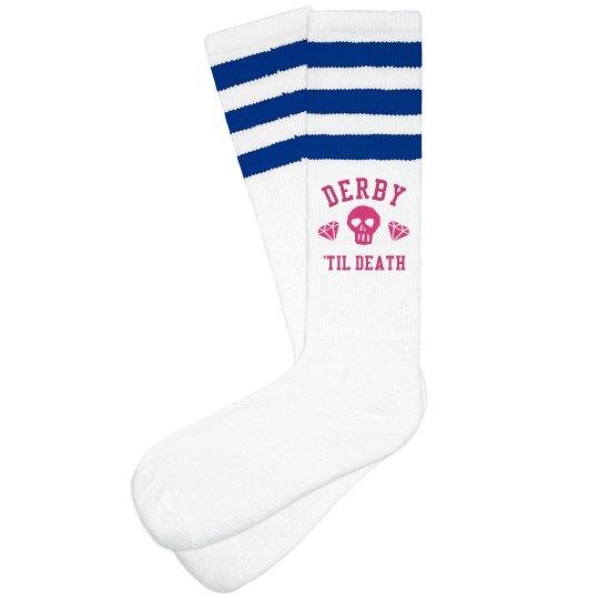 Derby 'Til Death High Socks