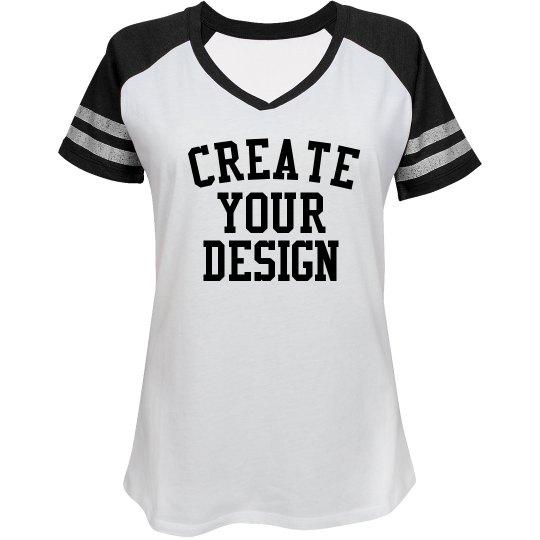 Design a Custom Sporty V-Neck Tee