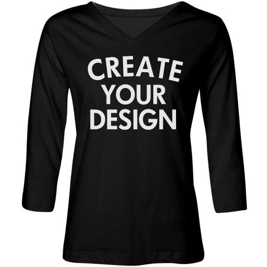 Design a Custom V-Neck T-Shirt
