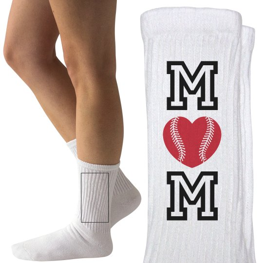 Design Cute Baseball Mom Socks